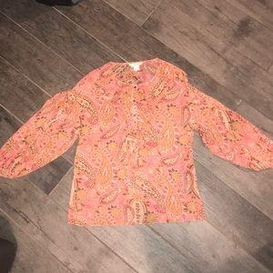 Sundance Paisley Silk Floral Paisley Shirt size S